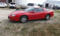 2002 Chevy Camaro, Good Tires, Fun to drive, Good miles, Sharp red! We are located at N2563 Coplien Road Monroe WI. 53566. Just off of Highway KK 40 minutes south of Madison WI. 1 hour northwest of Rockford IL. 40 Minutes west of Beloit and 1 hour 10