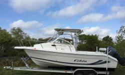 2002 Cobia 250WA C Cuddy Cabin with Hard Top Yamaha 225 Four-Stroke Engine Low hours - 250 hours on engine Excellent condition ? Runs great Kept in covered lift in Gulf Breeze Serviced by Gulf Breeze Marine Includes Trailer