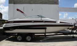 MAKE A OFFER!!! WE FINANCE!! PAYMENTS AS LOW AS $180 A MONTH Great boat! It's a very well laid out family boat and is very dry. This one comes with a high powered trolling motor for those who like to drop a hook. With the 5.7 Mercruiser at 300 hp powering