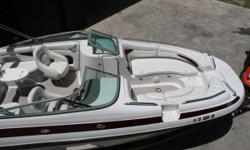 MAKE AN OFFER!! RPM Sports provides FINANCING!! Payments as Low as $180 a month!! Great boat! This boat is a well laid out family boat, and is very dry. The 5.7 Volvo with 280 hp duel props propels this boat through water like a hot knife slicing butter.