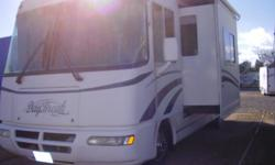 Class A motor home, Well kept. 2 slides, queen walkaround bed, Back up camera, tilt wheel, am/fm radio w/cassette, new antenna, 28,000 miles. Chevy engine and chassis (vortex 8100) (530) 221-4780 or (530) 604-3390
