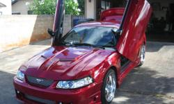 2002 Ford Mustang GT for sale. 4.6L engine, Super Charger, high performance exhaust system, 5 speed Standard, Foose Nitrous 5 rims, many custom parts with only 64,800 miles. Premium entertainment system with backup camera. This vehicle was used as a show