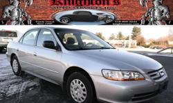 2002 Honda Accord Value Package 4dr Sedan -$6,495 EXCELLENT COMMUTER CAR!! ONE-OWNER!! ONLY 30K MILES!! 2002 Honda Accord Sedan!! Automatic with Air Conditioning; AM/FM/CD/Cassette; and Center Console!! AVAILABLE WITH EVERY SALE: FREE 6