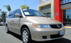 Legendary Honda reliability in van form! Smooth riding/gas-saving v6 engine, mid-row captain's chairs, rear bench that stores into the floor, rear A/C control, dual power sliding doors, tinted windows, power windows, power locks, power steering,