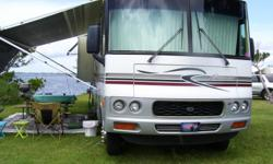 35ft very nice.WorkHorse chassis.Side by Side refrigerator with ice maker.Seperate bedroom with Q bed.Sleeps 8.New rear tires front tires excellent shape.27000 highway miles.2 slides,full bath,plenty of closet space and outside storage.Very weel