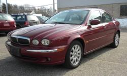 *~* 2002 Jaguar X-Type 2.5 AWD Sedan *~* Burgundy w/ Tan Leather, 5-Speed Automatic 2.5L V6 Engine, All Power Options, Cassette & CD Player Tilt Wheel, Alloys, A/C, Wood Trim, Cruise Control, Sunroof   *** Trades Welcome, Financing Available *** All