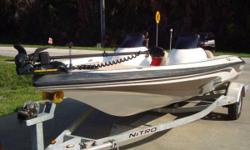 """!!!! To contact me use """" Respond to this ad """" button.!!! * INSTRUMENTATION WITH MPH, RPM, TRIM AND FUEL * POLYPLANER AM/FM/CD PLAYER * HUMMINBIRD 300 TX DEPTH FINDER (NOT READABLE) * MINNKOTA 50 LB 12 VOLT POWER DRIVE V2 TROLLING MOTOR * NICE UPHOLSTERY *"""