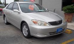2002 TOYOTA CAMRY LE V6 ENGINE , SILVER WITH GRAY COLTH INTERIOR , AUTOMATIC TRANSMISSION , HISTORY REPORT AVILABLE! PLEASE CALL FOR APPOINTMENT! MORE CLEANVEHICLES AVILABLE!
