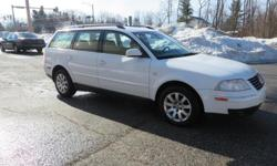 ~ 2002 Vw Passat GLS 1.8T Wagon ~ White w/ Tan Leather Interior, CD Player, Heated Front Seats, Roof Rack Sunroof, Alloy Wheels, All Power Options, 148k. Very Clean Inside & Out. Come Test Drive This Beauty Today !!  Located at: Cars R Us of