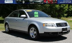 2003 AUDI A4 QUATTRO ONLY 100,545 Miles! 1.8T Automatic Transmission FULL TIMING BELT AND WATER PUMP SERVICE JUST DONE! Power Windows/Locks and Mirrors! Hated/ Leather Seats Power Moonroof Power Windows/Locks and Mirrors! Alloy Wheels! Factory Books/Mats