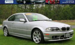 2003 BMW 325 CI Only 93K Miles! CLEAN! Silver Exterior Black Heated /Power Leather Interior Power Moonroof Power Windows/Locks and Mirrors Alloys With Great Tires! Service History Factory Books/Mats and Key! VIN WBABN73443PJ15341  BANK FINANCING