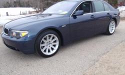 2003 BMW 745i w/ Sport Package, Toledo blue metallic with gray leather interior, automatic, 4.4 liter V8, 181k miles, power windows, power locks, power heated mirrors, power heated memory seats, ventilated massaging seats with lumbar adjustment, power