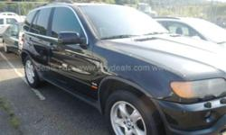 2003 BMW X5 4.4i SPORT UTILITY 4-DR, 4.4L V8 DOHC 32V. 2003 BMW X5, mileage: approx. 129,115, Ext: Black, Int: Tan, needs HID headlights, minor scratches, no visible decals, Eng: 6 cyl, transmission: automatic, AM/FM CD, A/C, Cruise, Tilt, Power Windows,