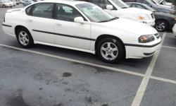 2003 Chevrolet Impala LS White / Tan Sedan 4 Doors, Front Wheel Drive 3.8L 200.0hp 6 Cylinders Automatic Transmission 138,003 Miles VIN: 2G1WH52K339418506 MORE INVENTORY @ OUR WEBSITE ************** www.drewsautosales.com **************  CHEVY