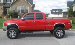 2003 CHEVY SILVERADO 1500 LT Z71. THIS IS A COOL TRUCK. THIS TRUCK RUNS AND LOOKS GREAT. COLD AIR INTAKE, AND LOW MILES. THIS TRUCK IS 4 WHEEL DRIVE SO IT HANDLES REALLY WELL. THE TRUCK RUNS GREAT JUST READY FOR A NEW ONE. PLEASE EMAIL OR TEXT ME VIA