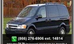 Bucket Seats, Bench Seat, Passenger Van, Adjustable Steering Wheel, Compact Spare Tire, Am/Fm, Intermittent Wipers, Front Airbags (Dual), Power Locks, Child Safety Locks, Power Steering, Power Outlet, Third Row Seating, Automatic Headlights, Steel Wheels,