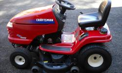 2003 CRAFTSMAN RIDING TRACTOR DYT4000-24HP B/S ELECTRIC PTO 169 HRS 48 IN DECK AUTOMATIC PERFECT CONDITION $750.00 WILL DELIVER FOR A SMALL FEE PRIVATE SELLER .CALL --