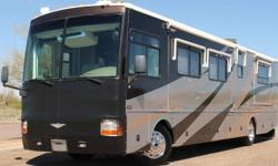 THIS 39ft, FOUR SLIDE CLASS A BUS IS LOADED W/ OPTIONS AND LOOKS BEAUTIFUL ALL OVER. THIS RIG HAS 33,658 MILES ON A 330 CATERPILLAR TURBO DIESEL ENGINE PAIRED WITH A SMOOTH SHIFTING ALLISON 6 SPEED AUTOMATIC TRANSMISSION. THIS UNIT SITS ON A POPULAR