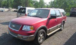 FOR ONLINE AUCTION ON THURSDAY, JUNE 16 at repocast.com: 2003 Ford Expedition, 165,024 odometer mileage, VIN# 1FMFU18L93LC34476, 5.4 Liter 8-Cylinder Engine, Automatic Trans, 4x4, Heated Seats, Power Seats, Power Windows, Power Locks, Cruise Control, A/C,