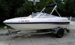 2003 Four Winns Freedom 170, (16ft 6in) 135 hp Mercruiser, I purchased this boat new and ran it on weekends during the summer each season. Regularly maintained,ran mostly in freshwater but not exclusively flushed religiously after each use, no chips