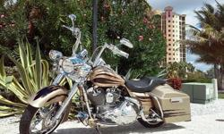This is an anniversary limited edition Screaming Eagle Roadking. Only 3,000 made. Has all custom amenities from BADDAD rear end and LED run brake lights, Weld Racing custom 21' front rim and matching 18' rear rim and matching pulley, PM 6