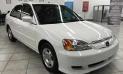 CLICK FOR FULL INVENTORY: http://5starautos.net/ 916-368-7886 2500 DOWN ! NO CREDIT OK!!! WE DO NO CREDIT CHECK & NO INTEREST FINANCING!!! 2003 HONDA CIVIC HYBRID WHITE 4DR! ! RELIABLE! AUTOMATIC! FAMILY SIZE! RUNS GREAT!  DRIVES NICE!! GREAT MPG!