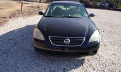 2003 NISSAN ALTIMA BLACK WITH TAN CLOTH INTERIOR ONLY 140K MILES FINANCING AVAILABLE NO MATTER WHAT YOUR CREDIT SITUATION IS NO CREDIT BAD CREDIT REPO'S BK'S DIVORCE I DONT CARE IF YOU HAVE $1000 DOWN YOU CAN RIDE TODAY CALL LARRY --