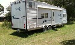 2003 - 28 ft Talon ZX Toy Hauler by Jayco Everything in excellent condition Full size Awning *Gas Generator Fuel storage/Depot for fueling up Bike/ATV 2 large Propane tanks Central AC/Heat (Gas/Electric) Gas BBQ ? used a couple times Outside Shower