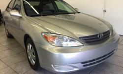 CLICK FOR FULL INVENTORY: http://5starautos.net/  916-368-7886  2,500 DOWN ! NO CREDIT OK!!! WE DO NO CREDIT CHECK & NO INTEREST FINANCING!!!  2003 TOYOTA CAMRY 4DR SILVER! FAMILY SIZE* VERY CLEAN! LOW MILES* DRIVES NICE! PASSED SMOG! AND