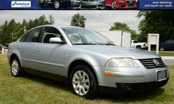 FOR UP-TO-DATE PRICING AND MORE PHOTOS, CLICK THIS LINK: http://www.carwashcarsinc.com/2003_Volkswagen_Passat_Glenmont_NY_264269174.veh 5-SP MANUAL TRANSMISSION!! LEATHER!! V6!! 2003 Volkswagen Passat Sedan V6 w/108K Miles!! Power Moonroof; Heated/