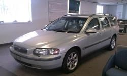 2003 Volvo V70 2.4T Station Wagon   Silver, w/ Tan Leather Interior. Full Power, All Options.  3rd Row Seat, A/C, Sun / Moon Roof, Heated Seats, Memory Drivers Seat Owners Manual, Alloy Wheels, Volume Controls on Steering Wheel, Remote Door