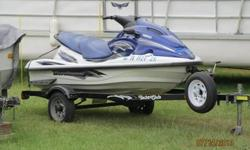 2003 XLT 1200Yamaha Waverunner. 155 HP. 83.4 hours. new battery, lake ready. Trailer w spare tireincluded. $3800.00 NADA is $3800.00