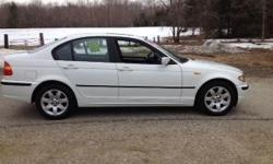 2004 BMW 325XI Sedan, white with black leather interior, aluminum interior accents, automatic, 2.5 liter 6 cylinder, 150k miles, 2 owners, clean Auto Check history - power windows, power locks, power mirrors, auto dim mirrors, sunroof, fog lamps front and