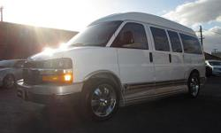 Clean Title!!! It's one of a kind Conversion Van Loaded with TV/DVD n Luxury Leather Seatings...etc!!! All scheduled maintenance, Looks & runs great, Low mileage, Must see, Never seen snow, Perfect first car, Power everything, Runs & drives great, Very