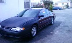 2004 MONTE CARLO/AUTOMATIC/3.4L V6 MOTOR /164000 MILES/ POWER DOORS LOOKS /WINDOWS/AC/ TAGS 1/16/11 /CLEAN TITLE /310/346-2878