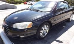 This is a real nice Chrysler Sebring Convertible Limited with New Top! It offers a 2.7L V6 engine, Automatic transmission, 8-way power driver seat, Power Convertible Top, Power Windows, Leather Bucket seats, Split-folding rear seatback, Folding center