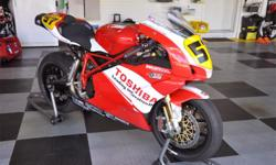 This superbike is in great cosmetic and running condition. There's only minor signs of wear and tear from racing such as light scratches and nicks on the body; however, it has never been crashed or layed down. Adult raced only, always garaged kept, and