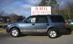 Price: $10,950 Year: 2004 Make: Ford Model: Expedition Trim: XLS Miles: 87720 VIN: 1FMPU14W14LA02489 Stock #: 2489 Engine: 8-Cylinder 4.6L V8 Color: BLUE MPG: 14 city / 18 hwy Contact Seller: AMG Auto Sales 5317 Fayetteville Rd. Raleigh, NC 27603