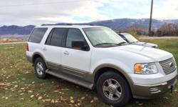 I am selling my 2004 Eddie Bauer Edition Ford Expedition. I am the second owner and have only had the truck for just over a year. This past summer I drove it from Atlanta, Georgia to Seattle, Washington. Clean title in hand. The car runs great and is easy