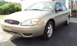 2004 Ford Taurus. SEL model. 6 cylinder motor - auto transmission. These have power windows, locks, and seats. C/D players. Remote entry and a power sunroof. Very recent tires on nice ford factory mag wheels. This car is in real good condition and the