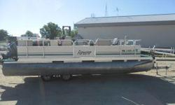 Up for auction is a 2004 Forester 2123 Pontoon w/ Johnson 90hp Motorsold strictly by bid via online auction. Register to bid at recreationalsalvage.com. The motor starts and runs good. There are scratches on the hood. Lower unit is lake