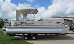 2004 Model Aqua Patio with 47.6 hours. 23ft Pontoon Boat long with 115hp Yamaha EFI 4-stroke outboard motor. Excellent condition., live well, gps depth finder, tubes, life jackets, trolling motor, 3 batteries with simultaneous charger, etc. included. Aux