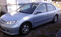 2004 honda Civic Hybrid light blue four door 100,000 miles gets 55 to 60 miles to the gallon. good reliable car save's a lot of money in gas. only thing it needs is a passenger side mirror. if really intrested you can call or leave me a message also you
