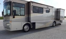 2004 Itasca Meridian , .THIS IS VERY NICE UNIT WITH A VERY GOOD AND SHINNY EXTERIOR.IT IS EQUIPT WITH BRAND NEW CARPET ,TWO FLEXSTEEL CAPTAINS SEATS. LEVELING JACKS ,22.5 INCH WHEELS AND 6 GOOD TIRES,AND AWNINGS ALL THE WAY AROUND.... THIS MOTORHOME IS