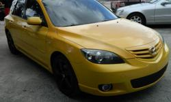 AT LAST ! Your love has come along! - Call 305 510 2344 - see this IMMACULATE '04 Mazda 3 in YELLOW with an awesome interior... LOADED with 2.3L I4 engine, manual transmission, P/S, A/C, CD Stereo and more...