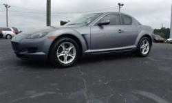 2004 Mazda RX8 runs and drives great has ice cold ac manual transmission rear wheel drive 2 door well maintained clean interior power everything 108 k miles non smoking vehicle perfect first car sunroof cd changer am/fm radio a must see ! Financing also