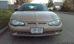Excellent golden tan 2004 Monte Carlo with grey interior, under 96,000 miles, no accidents, rebuilt engine, drives and runs great, no current liens, CASH ONLY. For More Information Call Mike (920)312-5811.