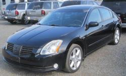 2004 Nissan Maxima Will be auctioned at The Bellingham Public Auto Auction. Saturday, August 6, 2016 at 11 AM. Preview starts at 8 AM Located at the corner of Kentucky & Iron Streets in Bellingham, Washington. Call 360-647-5370 for more information or