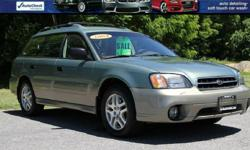 2004 SUBARU OUTBACK AWD WAGON! ONLY 118,047 Miles! 4 Cyl Automatic Transmission A/C Power Windows/Locks and Mirrors! Power Drivers Seat! Tan Cloth Interior Heated Seats! Alloy Wheels With Great tires! Factory Books/Mats and Keys! VIN 4S3BH675847635275