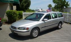 04' Volvo V70 Station Wagon Auto, Leather, Sunroof, Am/Fm/Cass/Cd w/steering wheel controls Full Power, Windows locks seats mirrors, Alloy wheels  Cold dual climate a/c, all minor & major servicing completed Clean CarFax, good history Call Today for